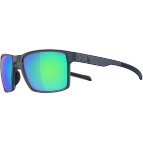 adidas Wayfinder Glasses raw steel matt/blue mirror